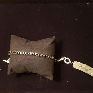 Monet black stone bracelet